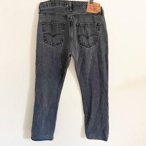 Vintage Levi's 501 Button Fly Jeans Black Sz 31